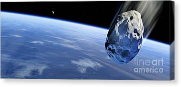 Asteroid Approaching Earth, Artwork Canvas Print