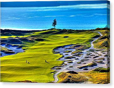 #5 At Chambers Bay Golf Course - Location Of The 2015 U.s. Open Tournament Canvas Print