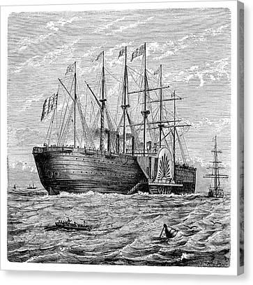 Atlantic Telegraph Cable Laying Canvas Print