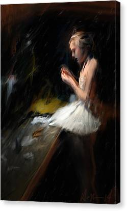 Backstage Canvas Print by H James Hoff