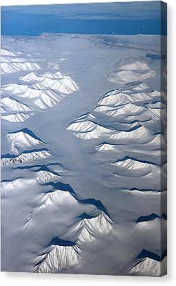 Baffin Island In The Arctic Northern Canada Canvas Print