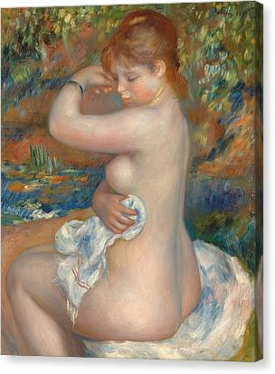 Bather Canvas Print by Pierre Auguste Renoir