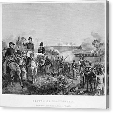 Battle Of Lake Champlain Canvas Print by Granger
