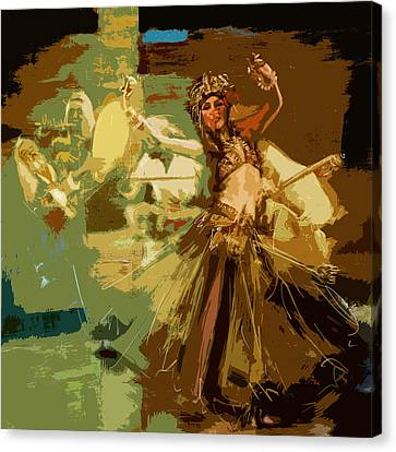 Abstract Belly Dancer 16 Canvas Print by Corporate Art Task Force