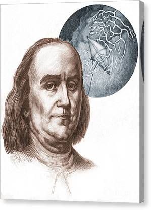 Benjamin Franklin Canvas Print by Spencer Sutton
