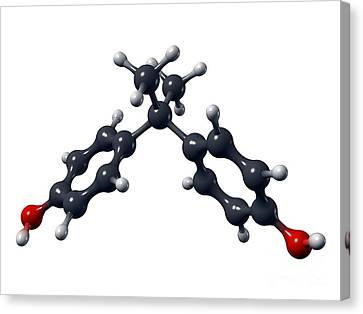 Bisphenol A Organic Pollutant Molecule Canvas Print by Dr. Mark J. Winter