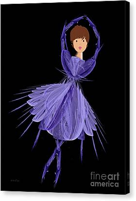 5 Blue Ballerina Canvas Print by Andee Design