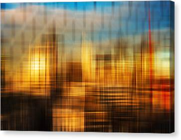 Blurred Abstract Colorful Background Canvas Print by Matthew Gibson