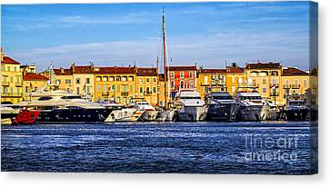 Boats At St.tropez Canvas Print by Elena Elisseeva