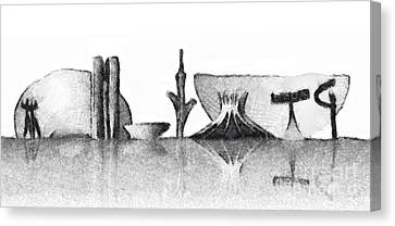 Brasilia Skyline Canvas Print