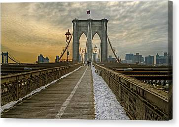 Canvas Print featuring the photograph Brooklyn Bridge by Jerry Gammon