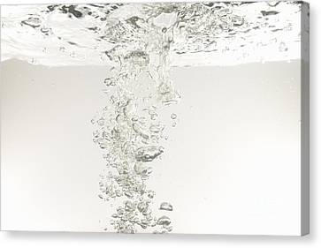 Bubbles Underwater Canvas Print by Sami Sarkis