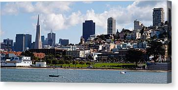 Buildings At The Waterfront Canvas Print