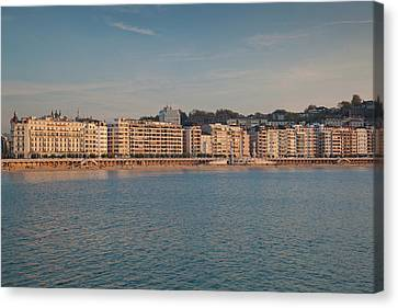 Country Buildings Canvas Print - Buildings At The Waterfront, San by Panoramic Images