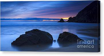 Canvas Print featuring the photograph Campelo Beach Galicia Spain by Pablo Avanzini