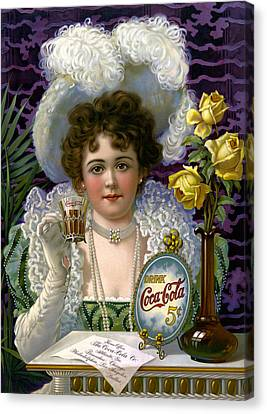 5 Cent Coca Cola - 1890 Canvas Print