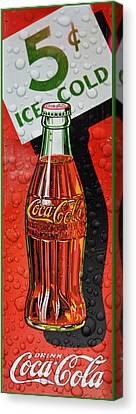5 Cent Coca-cola From 1886 - 1959 Canvas Print by Douglas MooreZart