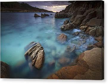 Canvas Print featuring the photograph Chanteiro Beach Galicia Spain by Pablo Avanzini