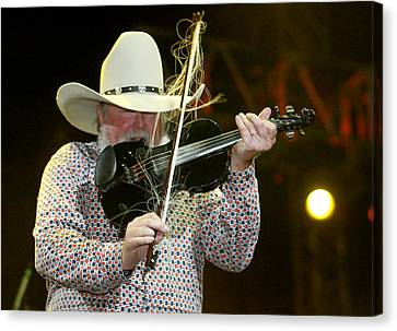 Charlie Daniels Canvas Print by Don Olea