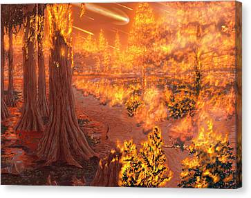 Chicxulub Impact Event Canvas Print by Chris Butler