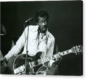 Chuck Berry Canvas Print by Retro Images Archive