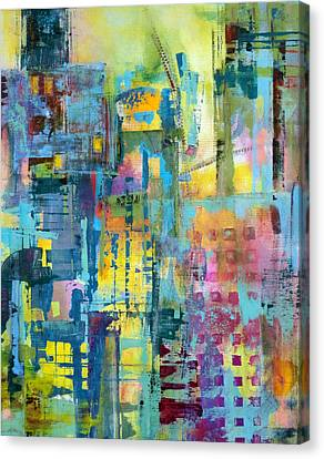 Cityscape Canvas Print by Katie Black