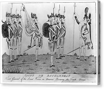 Comte De Rochambeau Canvas Print