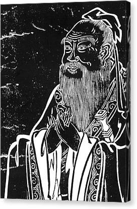 Confucius (c551-479 B Canvas Print by Granger
