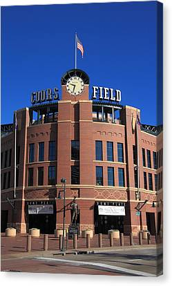 Coors Field - Colorado Rockies Canvas Print by Frank Romeo