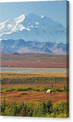 Denali National Park, Alaska, Mt Canvas Print by Hugh Rose