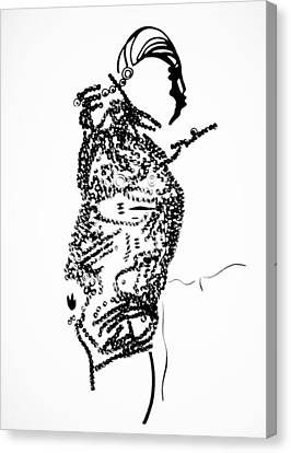 Dinka Corset - Manlual - South Sudan Canvas Print by Gloria Ssali