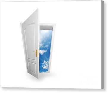 Door To New World. Canvas Print by Michal Bednarek