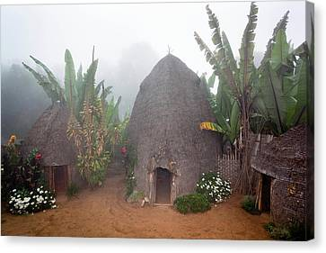 East Village Canvas Print - Dorze In The Guge Mountains, Ethiopia by Martin Zwick