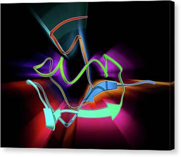 Enzyme Catalysing Dna Recombination Canvas Print by Laguna Design