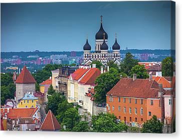 Estonia, Tallinn Canvas Print by Jaynes Gallery