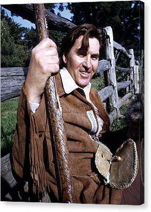 Fess Parker In Daniel Boone  Canvas Print by Silver Screen
