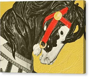 Fiery Stallion Canvas Print by JAMART Photography