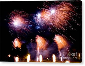 Pyrotechnic Canvas Print - Fireworks by Tim Holt