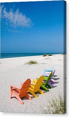Florida Sanibel Island Summer Vacation Beach Canvas Print