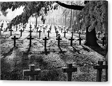 Frost At Cemetery Canvas Print by Dirk Ercken