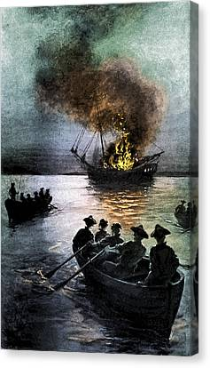 Gaspee Affair, 1772 Canvas Print