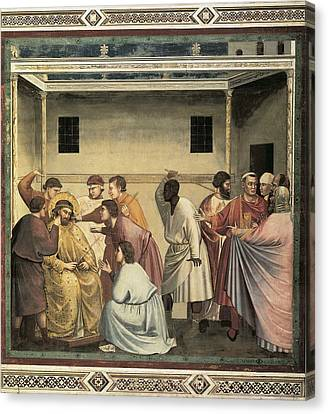 Giotto Di Bondone 1267-1337. Scenes Canvas Print by Everett