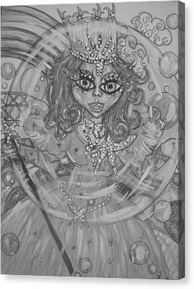 #5 Glinda The Good Witch In Black And White Canvas Print by Terri Allbright