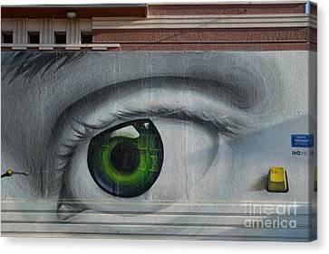 Craft Canvas Print - Graffiti On A Wall by George Atsametakis