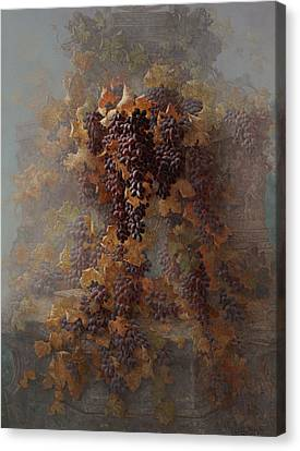 Grapes And Architecture Canvas Print by Edwin Deakin