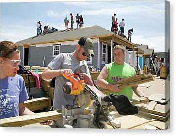 Habitat For Humanity House Building Canvas Print