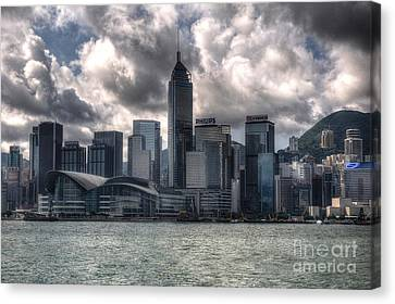 Canvas Print featuring the photograph Hong Kong Harbour by Joe  Ng