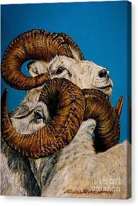 Horns Canvas Print by Linda Simon