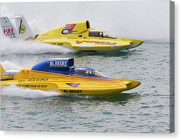 Hydroplane Racing Canvas Print by Jim West