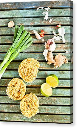 Italian Kitchen Canvas Print - Ingredients by Tom Gowanlock